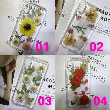 Handmade Dried Real Flower Case Cle..