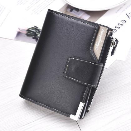 Men Leather Wallets Short Male Clut..