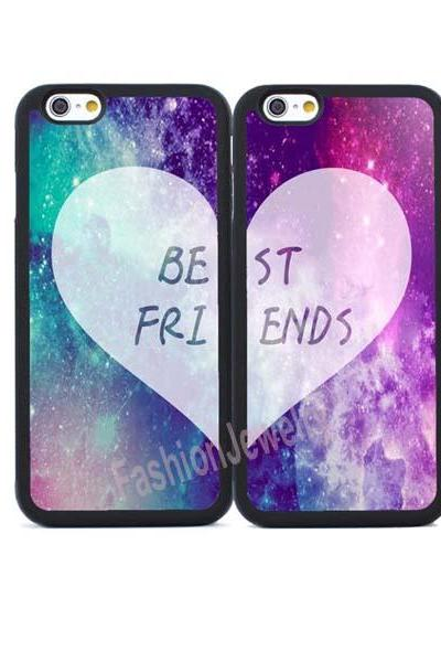 2X BFF Couple Cases for iPhone 4/4S/5/5S/SE/5C/6/6S Plus,iPhone 7/7 Plus,Samsung Galaxy S3/S4/S5/S6/S7 Edge,Note2/3/4/5/7 Back Case Shell
