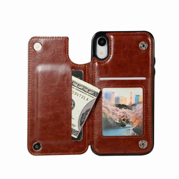 Retro Leather Wallet Card Holder Case Cover for iPhone 5 6 6S 7 8 Plus X XS XR XS MAX